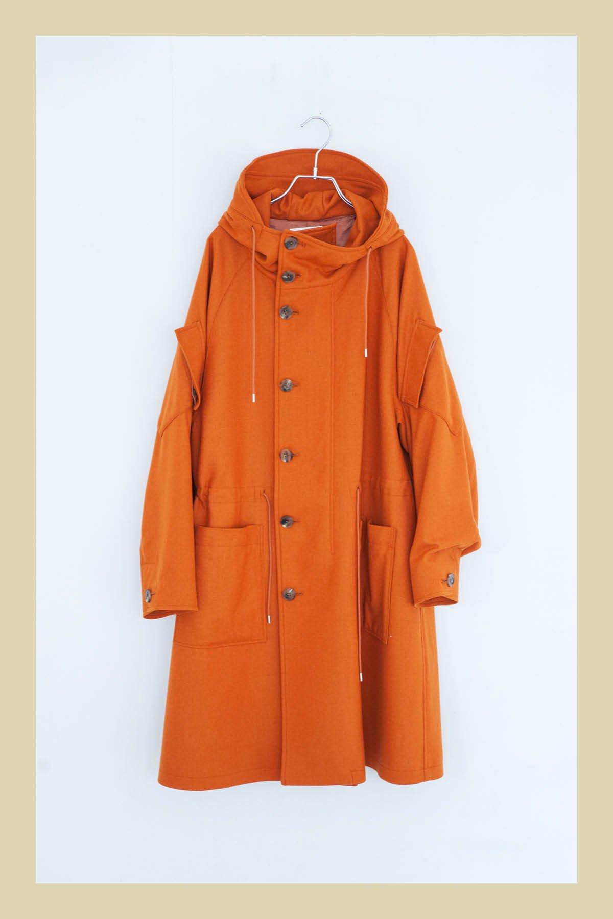 WELLDER / Hooded Coat(ORANGE)