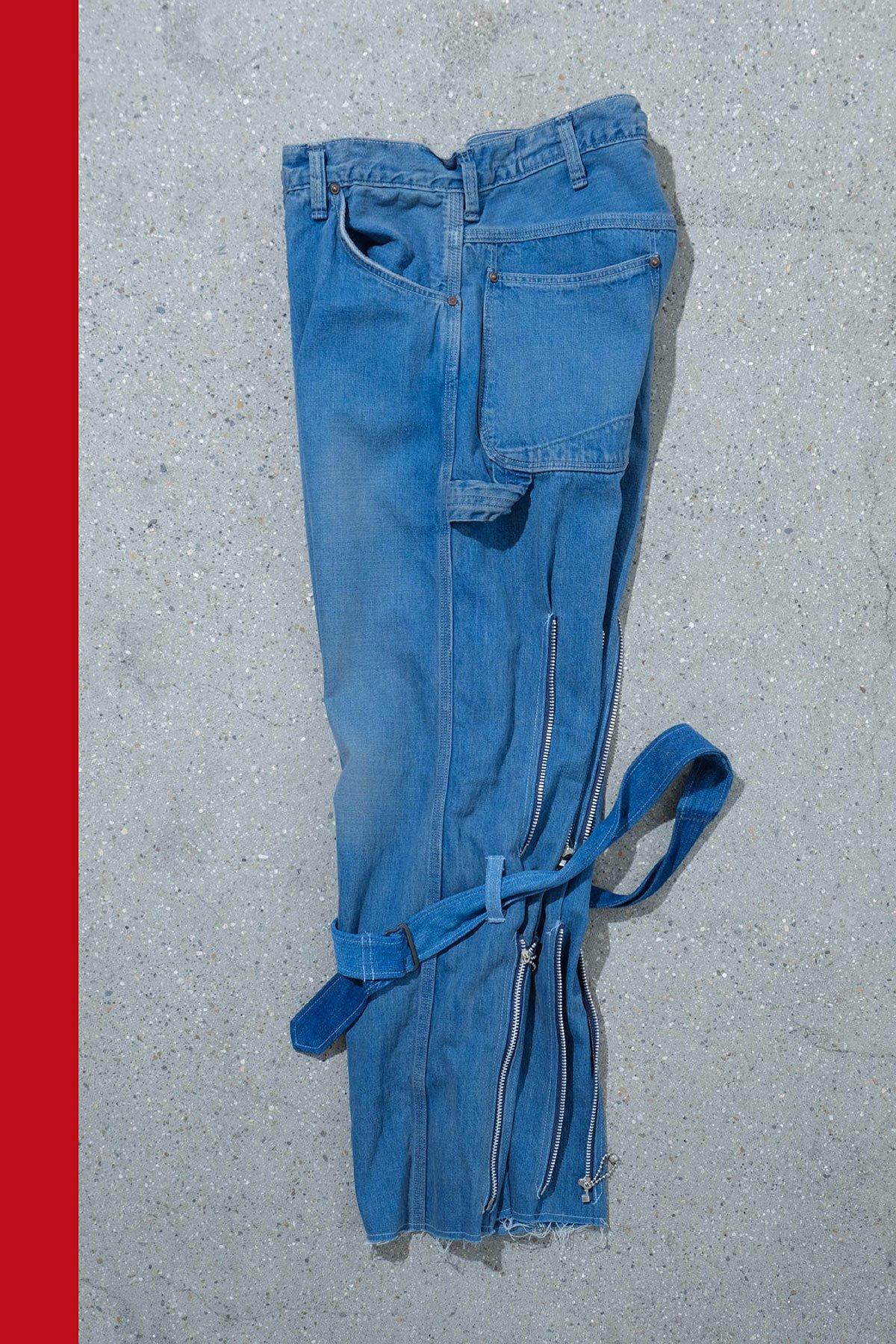 orslow × ink / BONTAGE PANTS(NAVY ZIP)