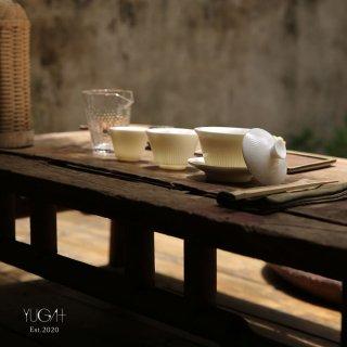 徳化窯白瓷 茶器 4点セット 収納バッグ付き