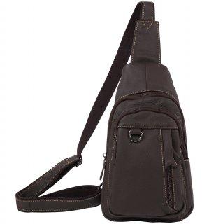 斜めがけ ボディバッグ ワンショルダーバッグ メンズ 本革 レザー バッグ 全2色 ブラウン