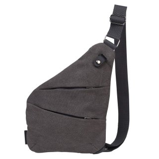 厚手 帆布キャンバス ボディバッグ ワンショルダー 斜め掛け 軽量 メンズ バッグ グレー 全4色