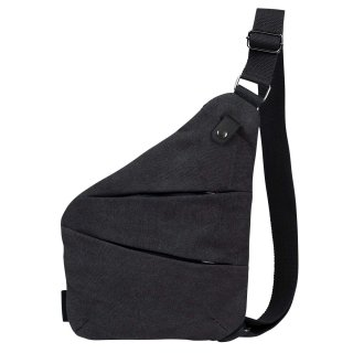 厚手 帆布キャンバス ボディバッグ ワンショルダー 斜め掛け 軽量 メンズ バッグ ブラック 全4色