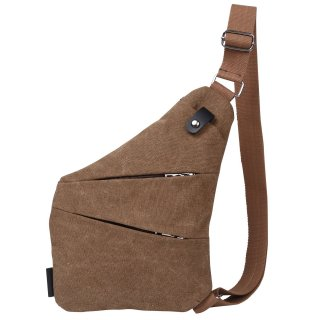 厚手 帆布キャンバス ボディバッグ ワンショルダー 斜め掛け 軽量 メンズ バッグ ブラウン 全4色