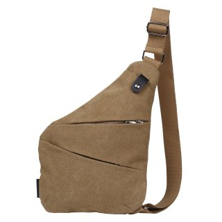 厚手 帆布キャンバス ボディバッグ ワンショルダー 斜め掛け 軽量 メンズ バッグ カーキ 全4色