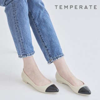 TEMPERATE / AMERI NEW<br>ポインテッドトゥ切替レインパンプス