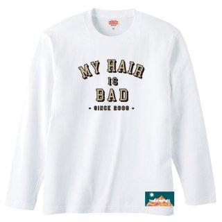 カレッジタグロングTシャツ(白)