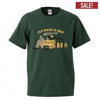 キャンプイエティTシャツ(グリーン)