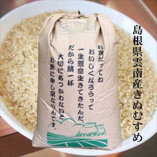【玄米30kg原袋】30年産 島根県「雲南産きぬむすめ」玄米30kg(精米無料)