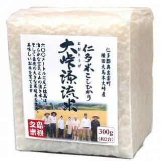 【真空キューブ米】30年産 仁多米「大峠源流米」300g