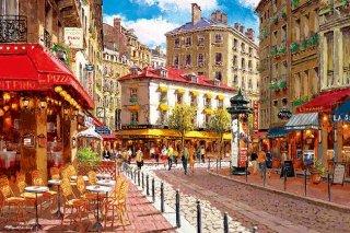 陽のあたるパリのカフェ