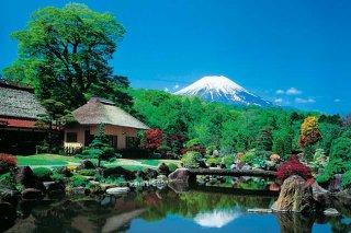 忍野村から鏡富士(おしのむらからかがみふじ)