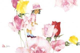 バラと少女