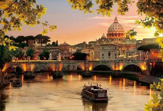 夕映えのサン・ピエトロ大聖堂