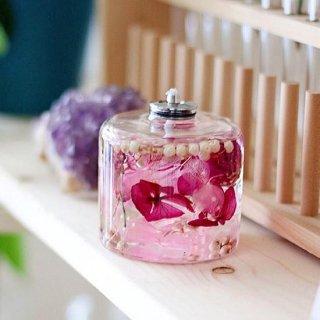 FLOWERiUM®︎ 植物が灯る幻想的なキャンドルランプ  pink