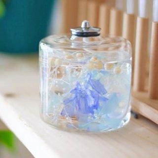 FLOWERiUM®︎ 植物が灯る幻想的なキャンドルランプ  blue