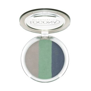 3色グラデーションアイシャドーで立体アイ♪【ロゴナ アイシャドー<トリオ> 04オーシャン】04オーシャンはクールで馴染みやすいブルーグリーン系です。