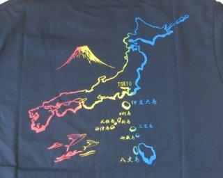 Tシャツ 東京島 黒 L