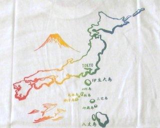 Tシャツ 東京島 白 L