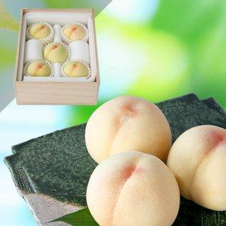 【超特選】清水白桃 5玉(木箱入り)