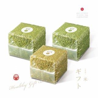 【ギフト】日本茶ノ米 緑茶2個&焙じ茶1個「3個入り」