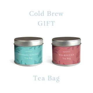 本格ティーバッグギフト【12】水出し煎茶&和紅茶TB茶缶入り