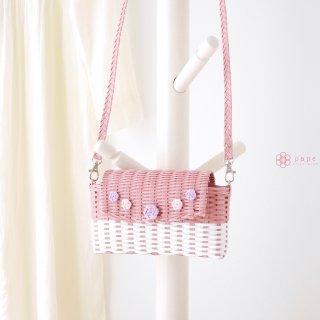 ときめき色のフタ付きスマホ用ポシェット*ピンク