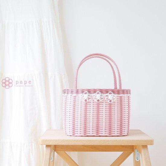 【受注生産】プチフラワーのカゴバッグS*ピンク