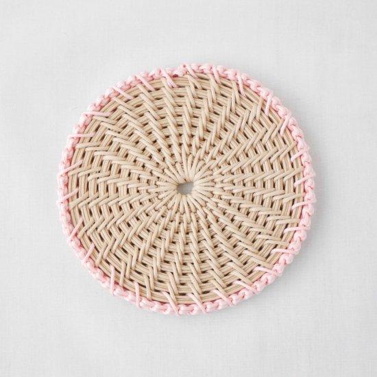 【受注生産】ときめき色のコースター1枚 ガーデンパステル*ピンク
