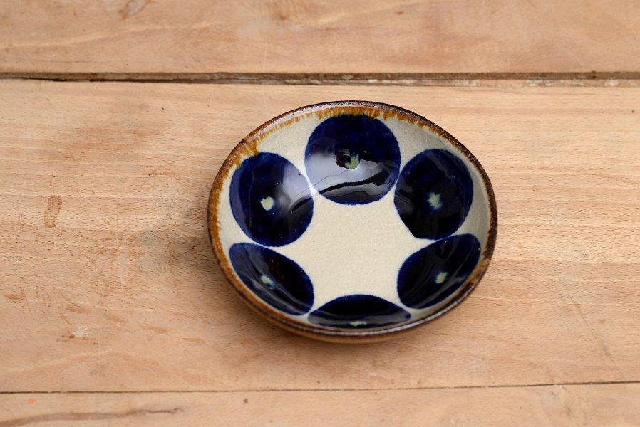 エドメ陶房 小鉢丸紋コバルト