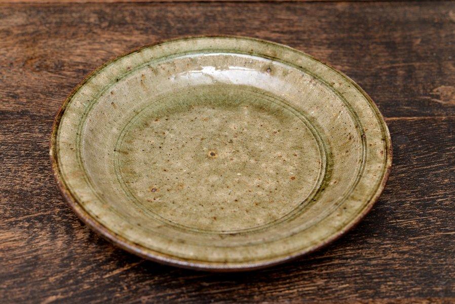 中嶋窯 8寸深皿ナラ灰釉