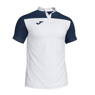 ゲームシャツ POLO 「COMBI」 WHITE NAVY