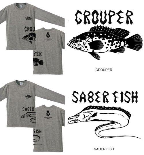BLAZE FISHER ver.2 サイドプリント長袖Tシャツ / シャープなタッチの釣り魚デザインを側面に大きくプリント、10魚種から選べる!