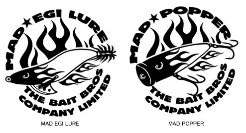 BAIT BROS フィッシングカッティングステッカー / コミカルなストリートファッション風にルアーをデザイン、6種類から選べる!
