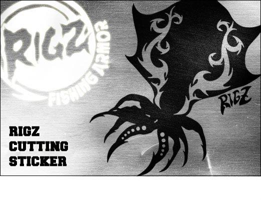 RIGZ フィッシングカッティングステッカー / クールなトライバル柄で、人気の釣り魚やフィッシングギアをデザイン、18種類から選べる!