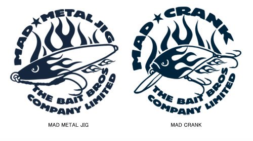 BAIT BROS プルオーバー フィッシングパーカー /  コミカルなストリートファッション風にルアーをデザイン、6種類から選べる!
