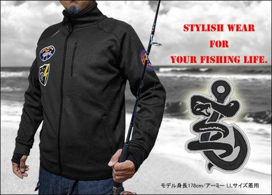 FISHING TROOPS 裏フリース フィッシングジャケット/4L / ストレッチ素材、裏フリース&指穴付きで、高い保温性と一体感を発揮する高機能ジャケット!