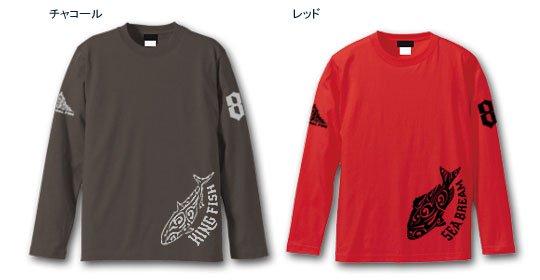 TRIBAL FINS ダブルプリント フィッシング長袖Tシャツ / トライバルで、人気の釣り魚をスタイリッシュにデザイン、15種類から選べる!