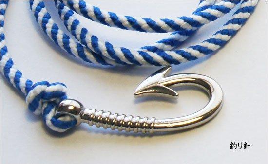 フィッシングフック コードブレスレット / オシャレな釣り針型のブレスレット、プレゼントにも最適、5カラーから選択が可能!
