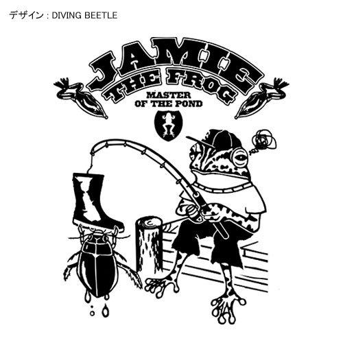 JAMIE THE FROG バスフィッシングパーカー / カエルがバス釣りをするコミカルなデザイン、5種類から選べる!