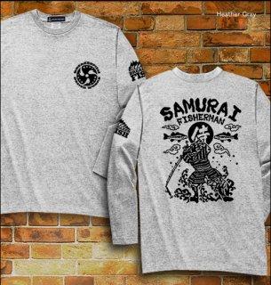 SAMURAI FISHERMAN バスフィッシング長袖Tシャツ / バス釣りをする侍を、和テイストで迫力満点にデザイン!