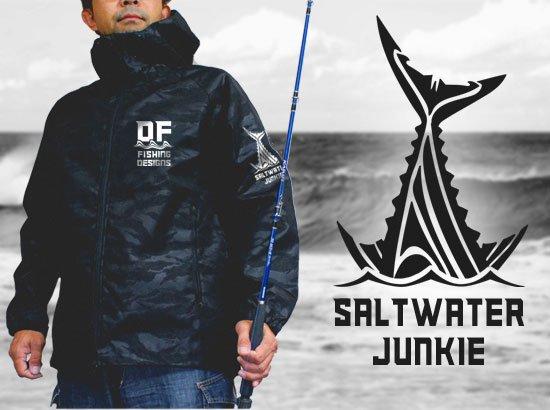 SALTWATER JUNKIE フィッシング シェルパーカ / アウトドアでの耐久性と、スタイリッシュさを併せ持った高機能ジャケット