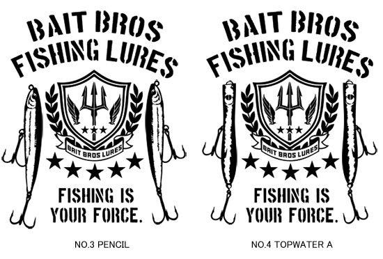BAIT BROS ALPHA フィッシングTシャツ / ミリタリーテイストでスタイリッシュにルアーをデザイン。8種類から選べる!