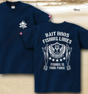 <img class='new_mark_img1' src='https://img.shop-pro.jp/img/new/icons5.gif' style='border:none;display:inline;margin:0px;padding:0px;width:auto;' />BAIT BROS ALPHA フィッシングTシャツ / ミリタリーテイストでスタイリッシュにルアーをデザイン。8種類から選べる!