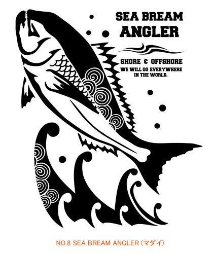 ANGLER'S SOUL J-style フィッシングTシャツ / 和のパターン(模様)を取り入れた、ジャパン・エキゾチックな魚のデザイン。10種類から選べる!
