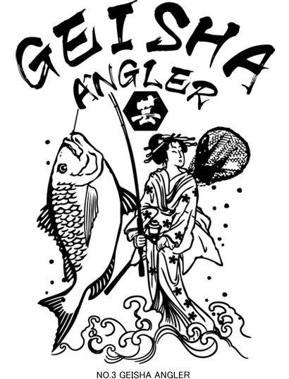 UKIYO-E ANGLER フィッシングTシャツ / 浮世絵調のクールなイラストで釣りの世界を再現。3種類から選べる!