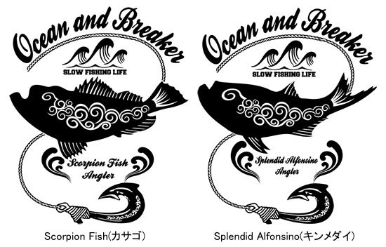 Ocean and Breaker フィッシング スタジアムジャケット / タフなウェザークロス素材を使用、武骨なルックスで、スタイリッシュなバックプリント スタジアムジャケット!!