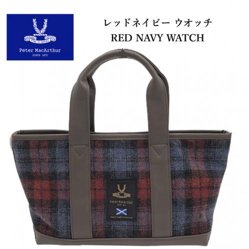 RED/NAVY WATCH トートバッグ  M (39×20×12�)