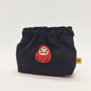 京都 kitekite (キテキテ) がま口 ぱっちんポーチ だるま