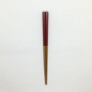 公長斎小菅 子供箸 レッド 長さ17cm