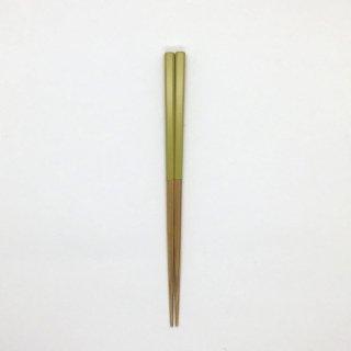 公長斎小菅 子供箸 イエロー 長さ17cm